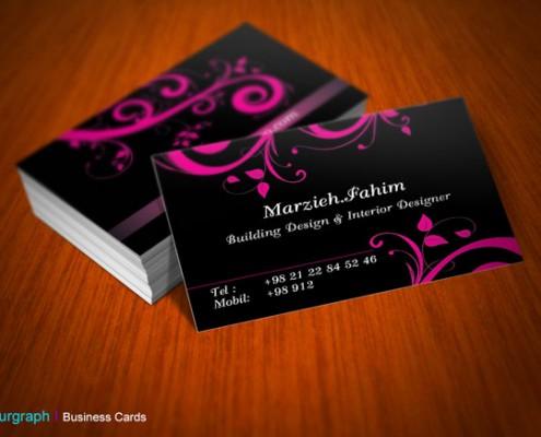 کارت ویزیت آرایشگاه زنانه , طراحی کارت ویزیت فوری , کارت ویزیت خاص